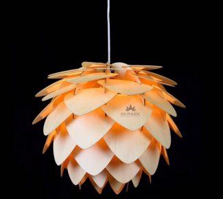 Đèn thả gỗ độc đáo hình bông hoa